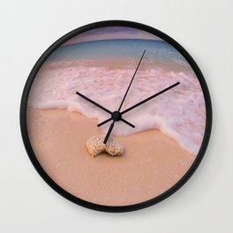 Shell Beach Wall Clock