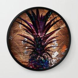 Copper Leaf Pineapple Art #buyart Wall Clock