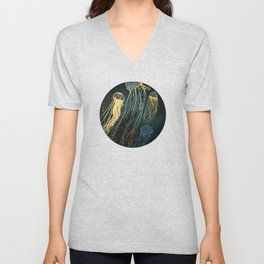 Metallic Jellyfish Unisex V-Neck