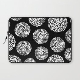 Black and White Flower Burst Laptop Sleeve