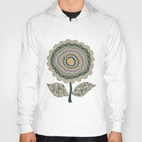 mineral Hoodies featuring Fabby Flower-Mineral colors by Groovity
