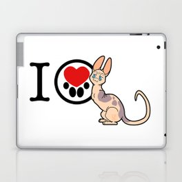 I Heart Sphynx! Laptop & iPad Skin