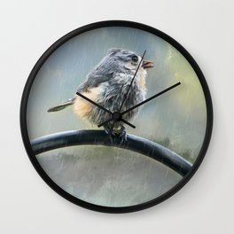 Lil Tit Mouse's Morning Shower Wall Clock
