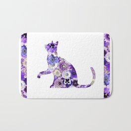 The Flowers Cat Bath Mat