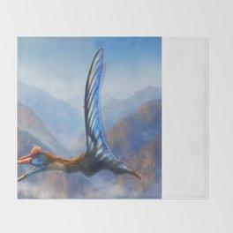 Quetzalcoatlus Northropi Restored Throw Blanket