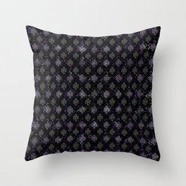 Endless Knot pattern - Silver and Amethyst Throw Pillow