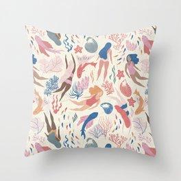 Almost Mermaid Throw Pillow