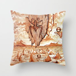 Tribute to the Tainos Throw Pillow
