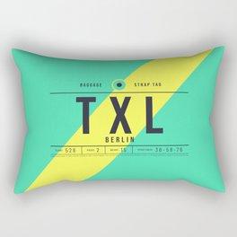 Baggage Tag E - TXL Berlin Tegel Germany Rectangular Pillow