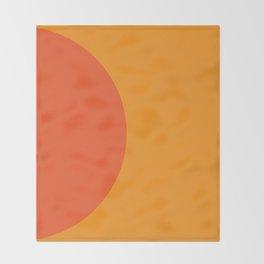Orange Rising Throw Blanket