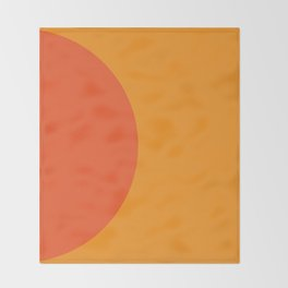 Orange Rising Throw Blanket