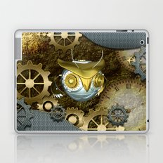 Steampunk, awesome owl Laptop & iPad Skin