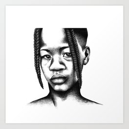 Little boy from Angola Art Print