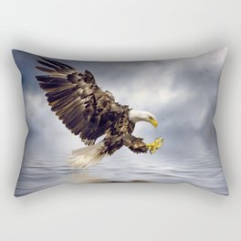 Bald Eagle swooping Rectangular Pillow