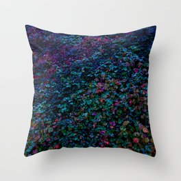 Cotoneaster in Cold Colours Throw Pillow