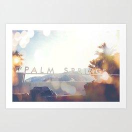 Palm Springs Bokeh Art Print