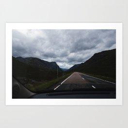Drive to Glencoe Art Print