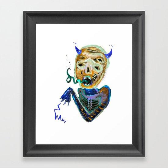demoniooOOoOOoOooo #2 Framed Art Print