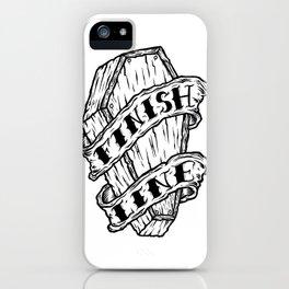 Finish Line. iPhone Case