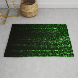 Bright Neon Green Digital Cocktail Party Rug