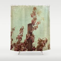 Faded Blossoms Shower Curtain