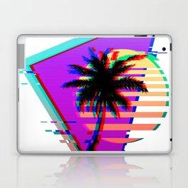 Vaporwave Palm Sunset 80s 90s Glitch Aesthetic Laptop & iPad Skin