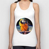parrot Tank Tops featuring Parrot by Cs025