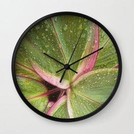 Emerald Wet leaf Wall Clock