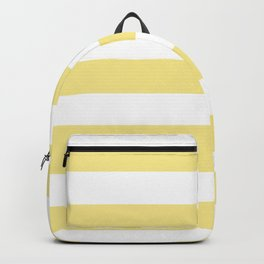 Flavescent - solid color - white stripes pattern Backpack