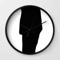storm trooper Wall Clocks featuring Trooper... Storm Trooper 2 by Derek Donovan