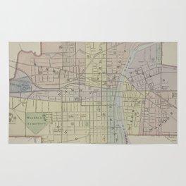 Vintage Map of Elmira New York (1896) Rug