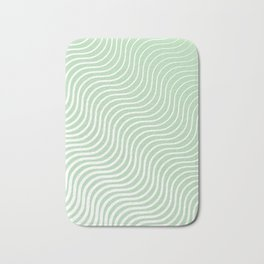 Whiskers - Light Green & White #440 Bath Mat