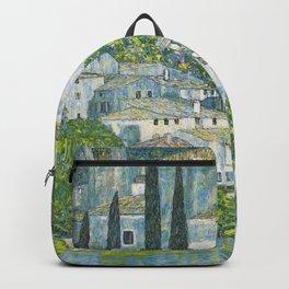 Gustav Klimt - Church in Cassone Backpack