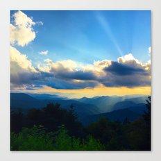 Golden sunset in the Blue Ridge Canvas Print