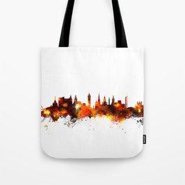 Glasgow Scotland Skyline Tote Bag