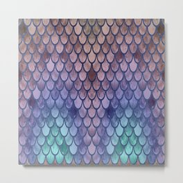 Pretty Mermaid Scales 100 Metal Print