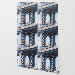 Manhattan Bridge Empire Blue Wallpaper