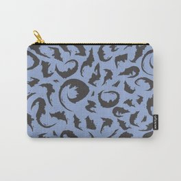 Bats in Blue Carry-All Pouch