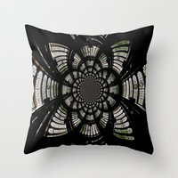 fractal Throw Pillows featuring Fractal by Aaron Carberry