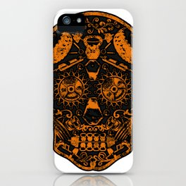 Strongman Sugar Skull, Dia De Los Deadlift iPhone Case