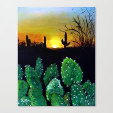 Landscape Painting - Desert Sunset Canvas Print