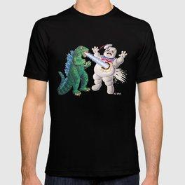 Godzilla vs Stay Puft T-shirt
