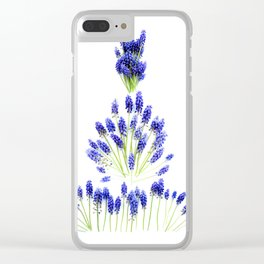 Grape Hyacinth Clear iPhone Case