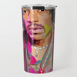 Jimi Hendrix Illustration Travel Mug