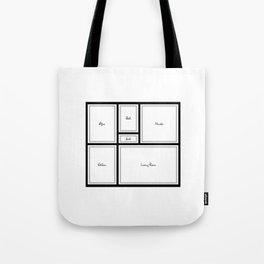 Little Apartment Plan Tote Bag