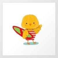 Surf Bird Art Print
