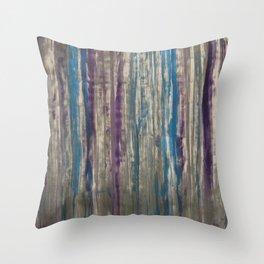 Metallic Ribbons Throw Pillow