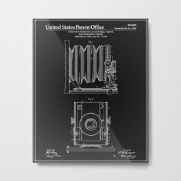 Camera Patent 1902 - Black Metal Print