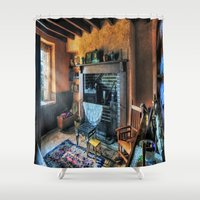country Shower Curtains featuring Country Cottage by Ian Mitchell