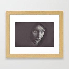 Charcoal Woman Framed Art Print